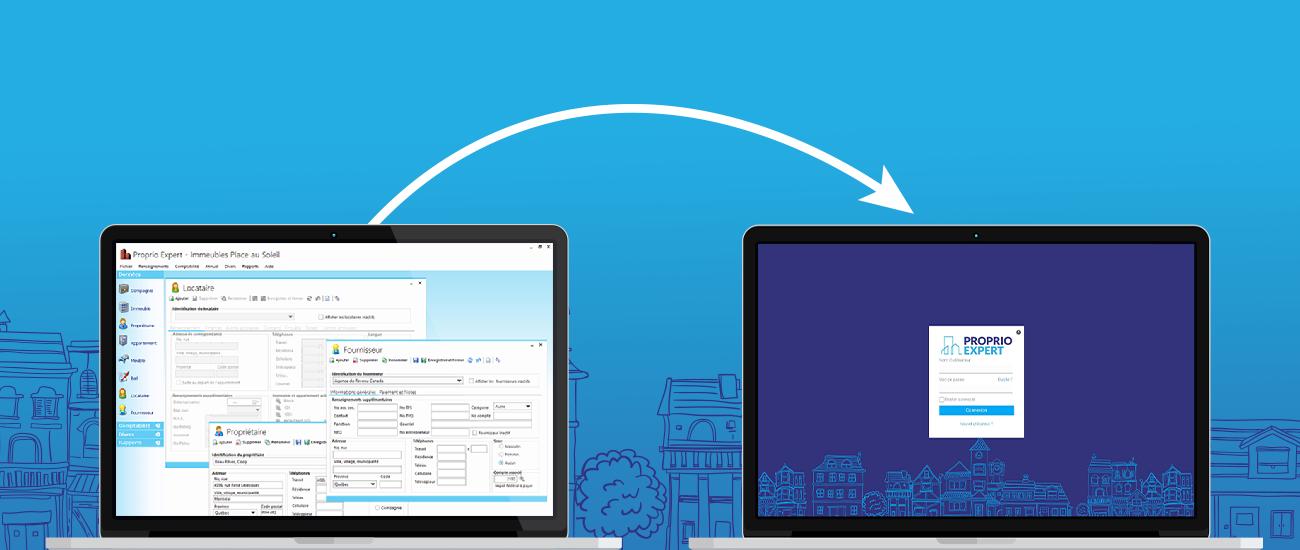 Passez de Proprio Expert Desktop à la version Web